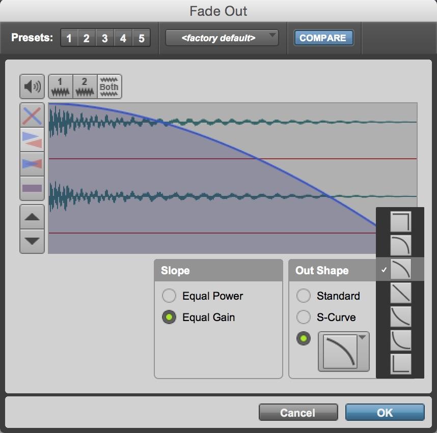 Pro Tools Fade Out Eğrileri